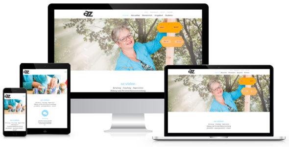 Webseite AZ-Vision