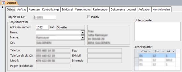 Objektverwaltung