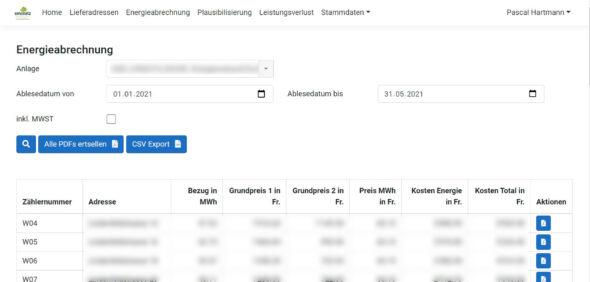 Energieabrechnungs-Softwarefür die Amstutz Holzenergie AG